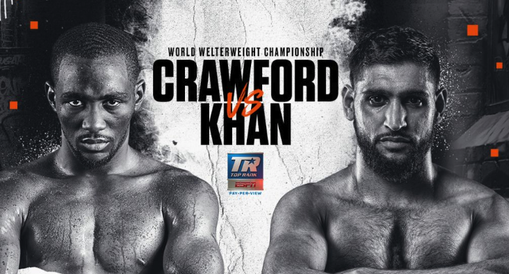 Crawford retains title by TKO after low blow stops Khan